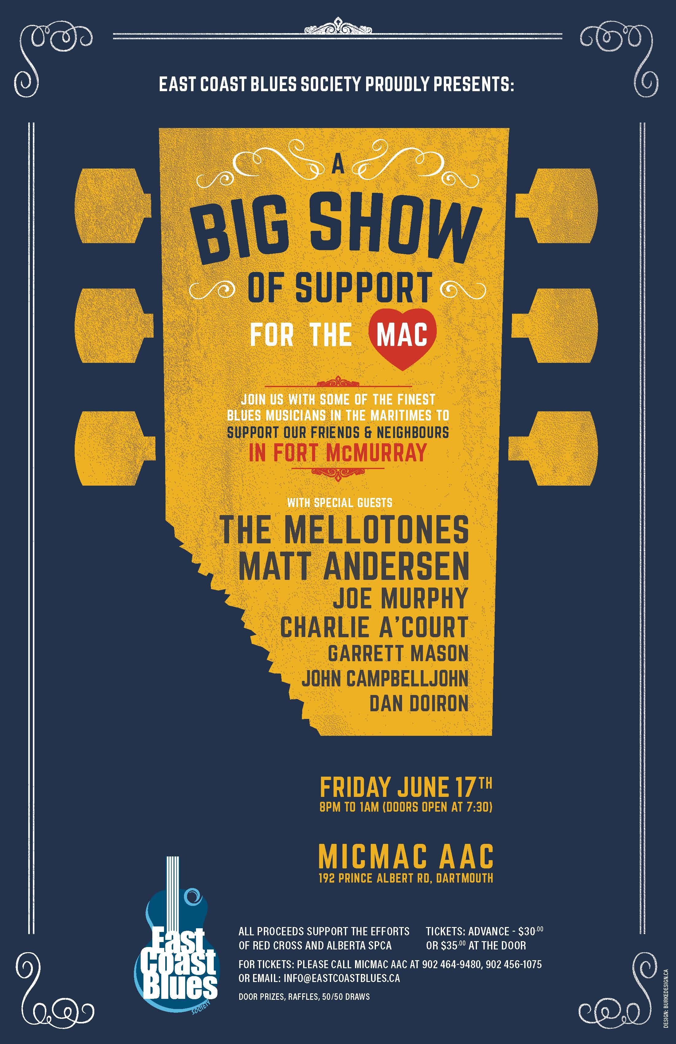 A Big Show Of Support For Mac with special guests The Mellotones