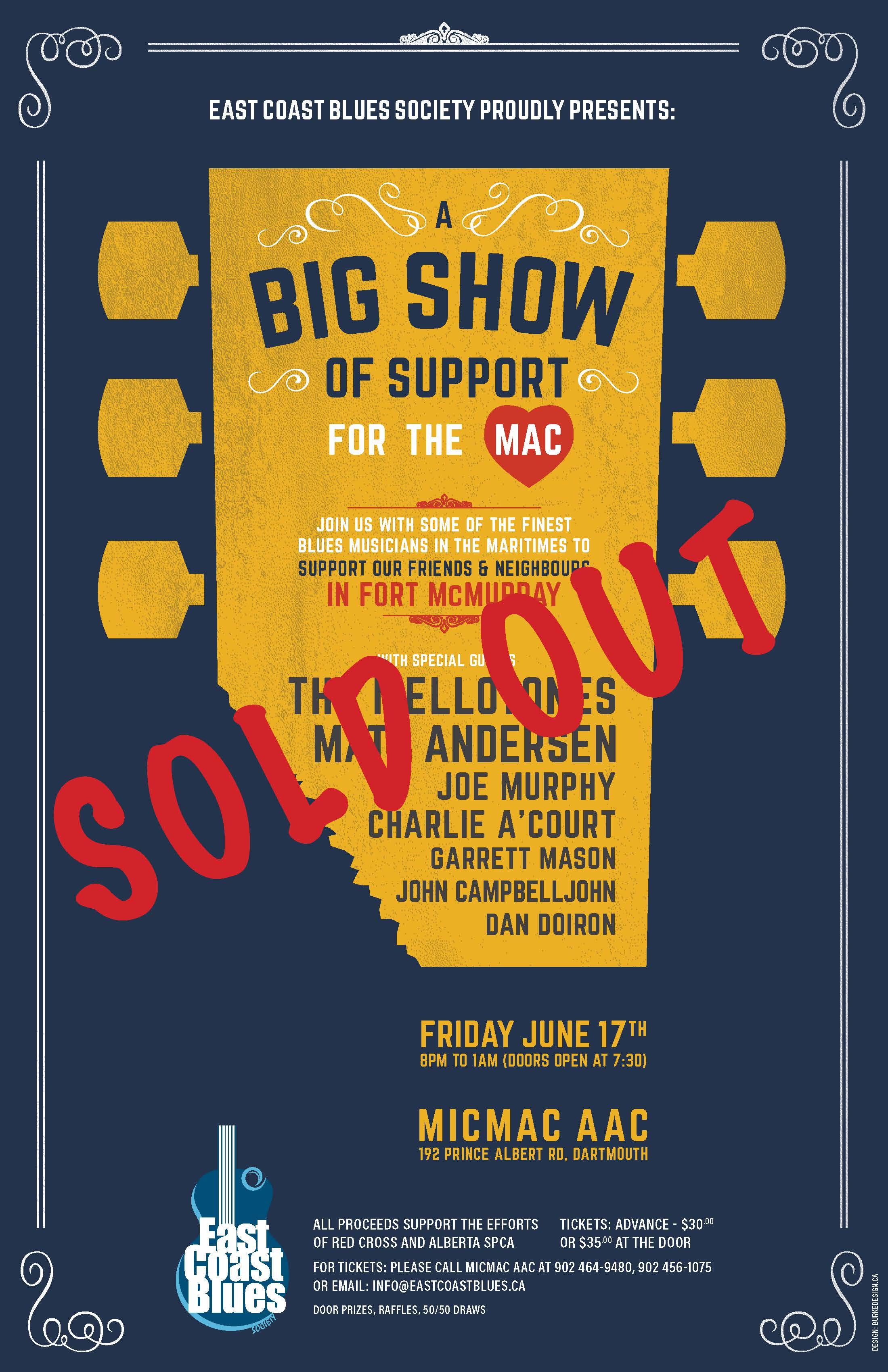 Benefit for Ft McMurray is sold out.