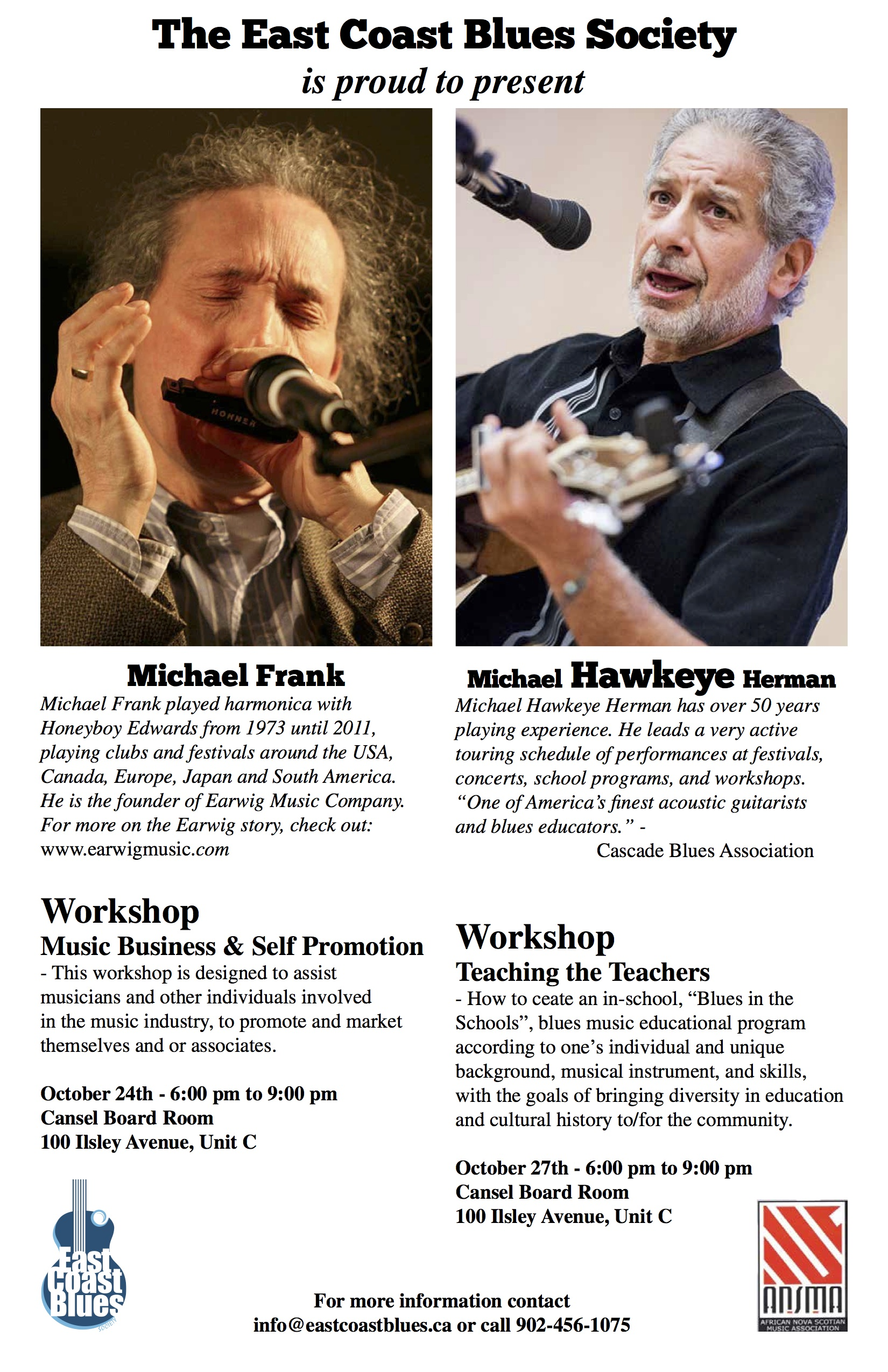 Workshops with Michael Frank and Michael Hawkeye Herman