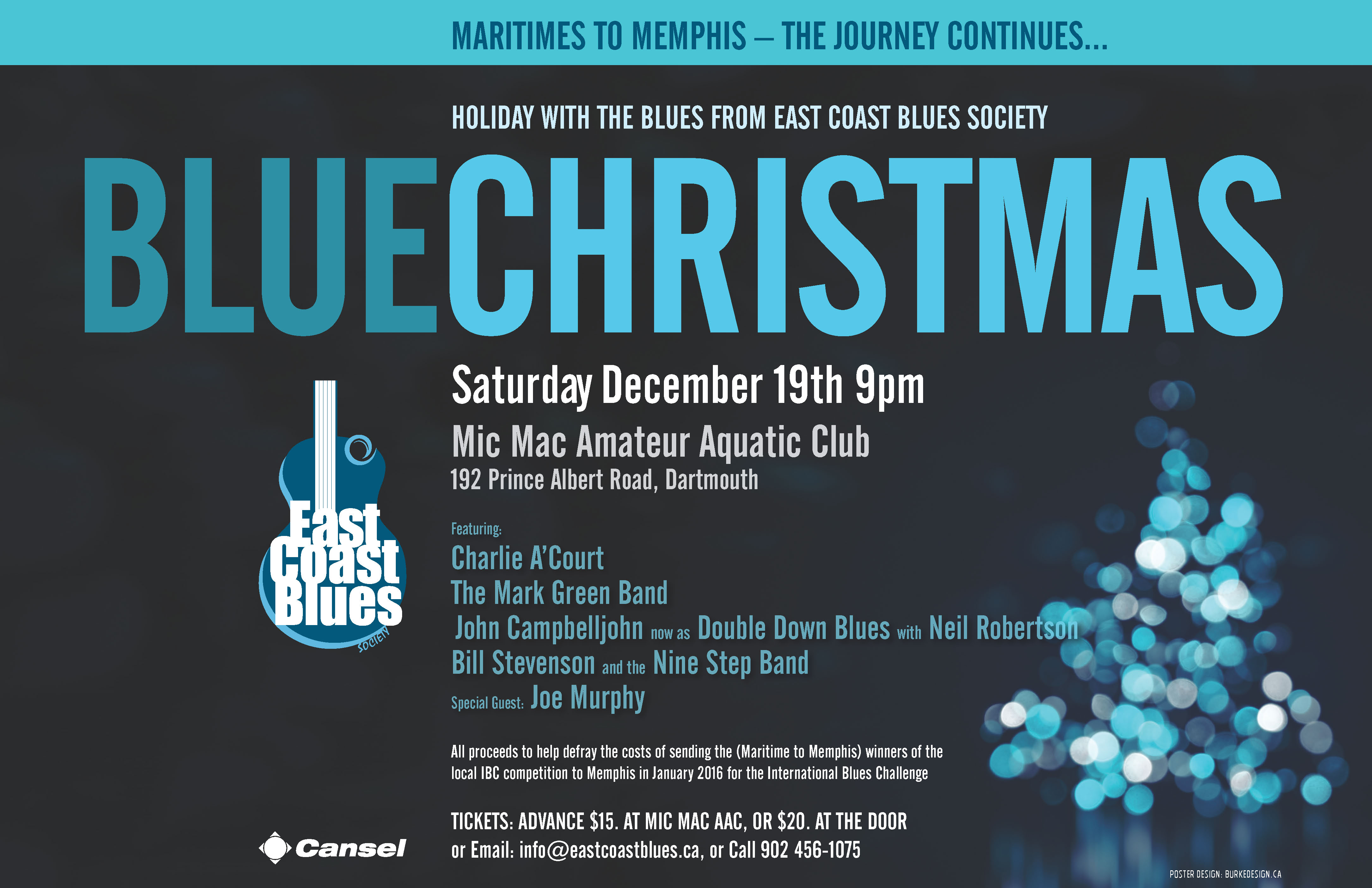 Blue Christmas poster
