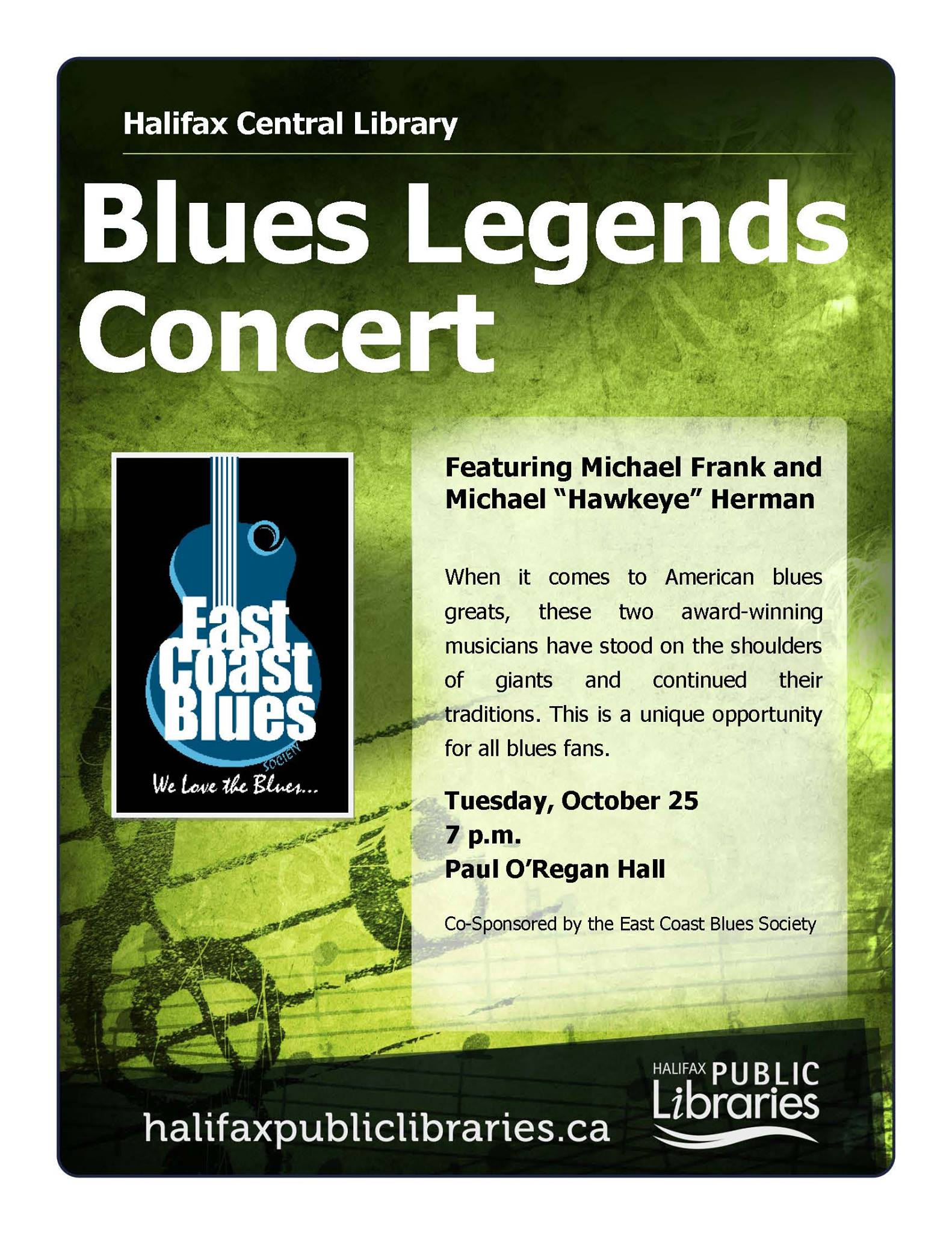 Blues Legends Concert feat. Michael Frank & 'Hawkeye' Herman