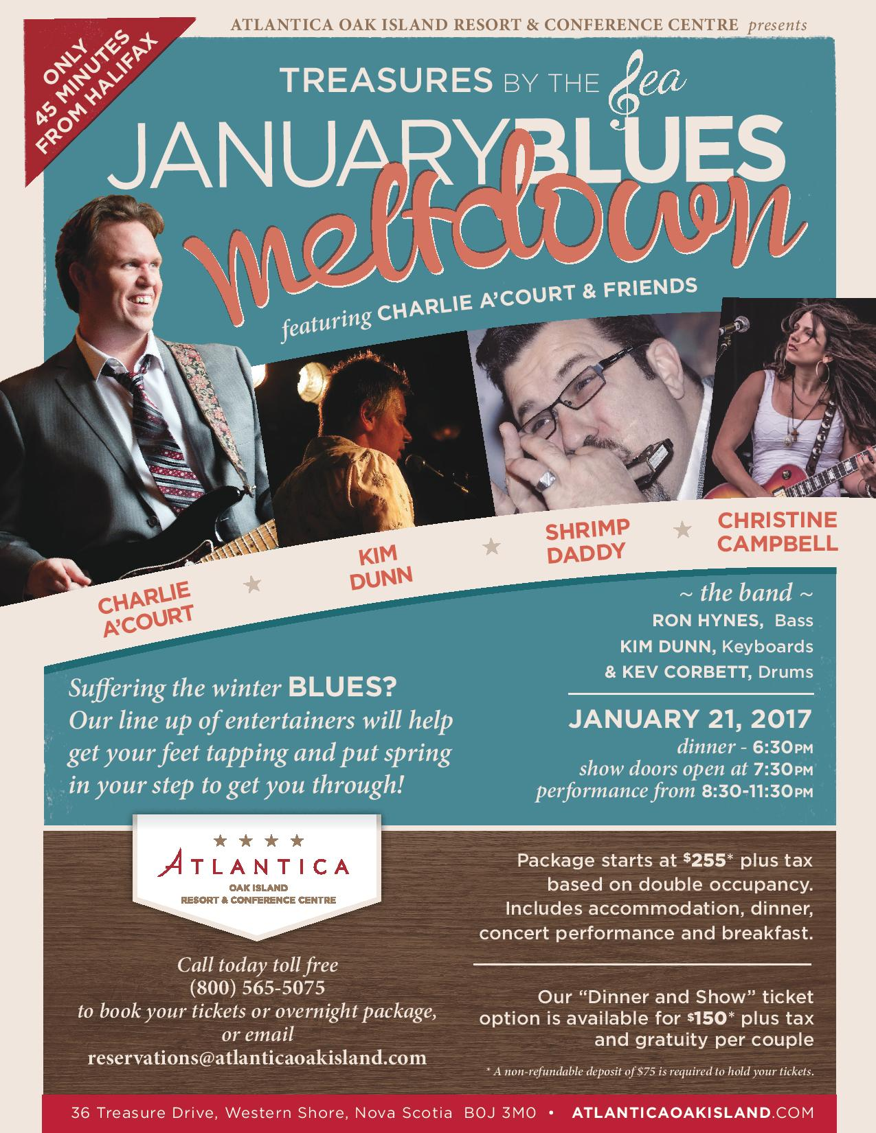 January Blues Meltdown Poster
